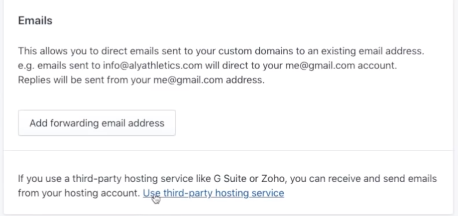 Verify Shopiy Zoho third-party email service