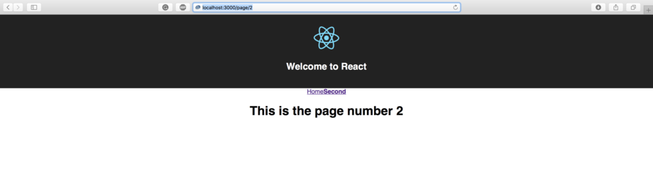 React Router Second Page