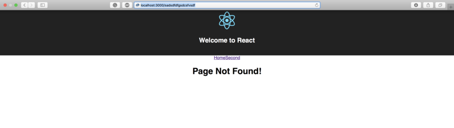 React Router Not Found