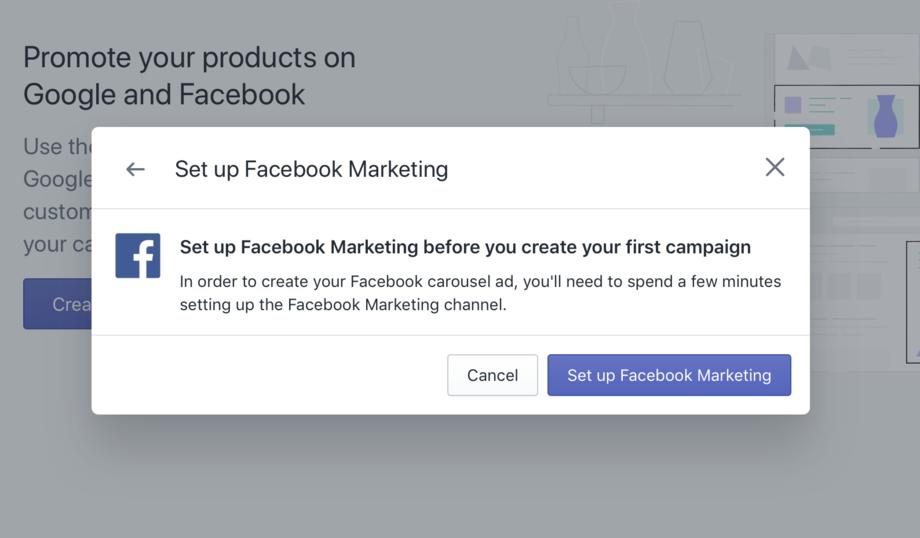 Shopify Setup Facebook Markenting