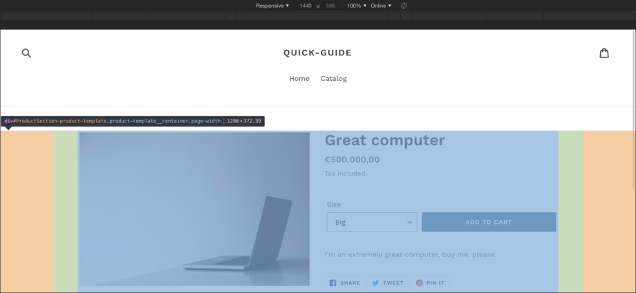 Shopify Theme Container Width