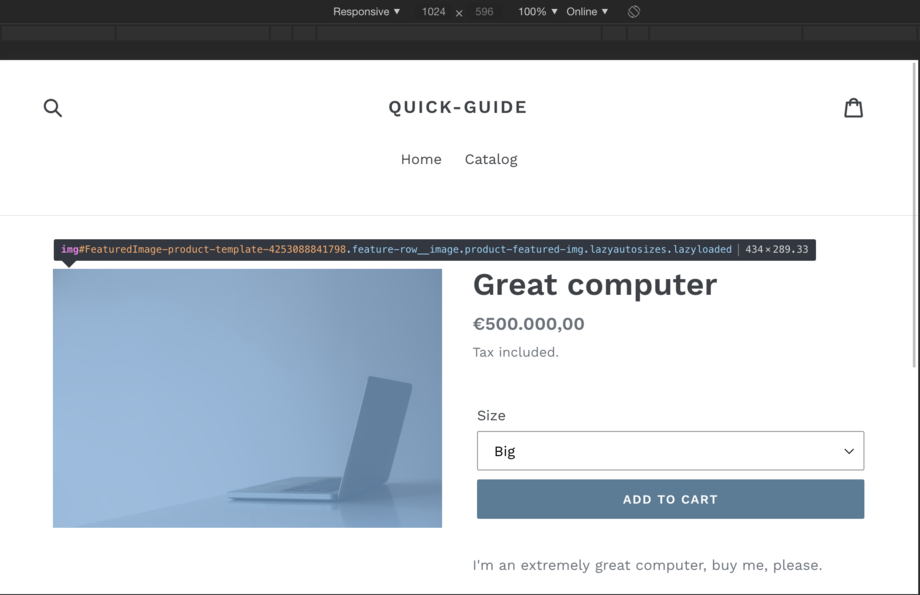 Shopify Theme image width next breakpoint