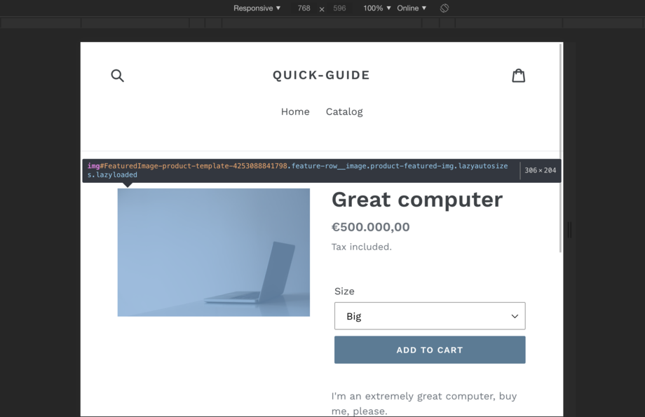 Shopify Product Image Width Breakpoint