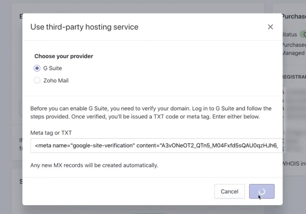 Add Google verification meta tag to Shopify